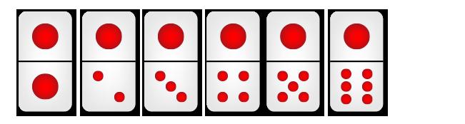 kartu domino mempunyai satu titik besar