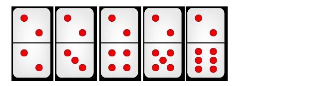 kartu domino mempunyai dua titik