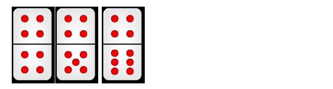 kartu domino mempunyai empat titik